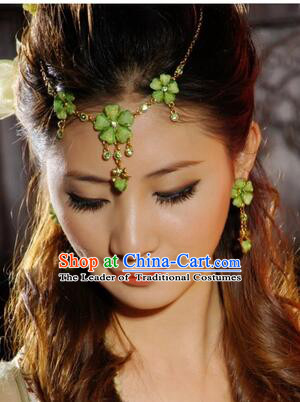 Ancient Accessories Head Wear Ear Forehead Wearing Set Green
