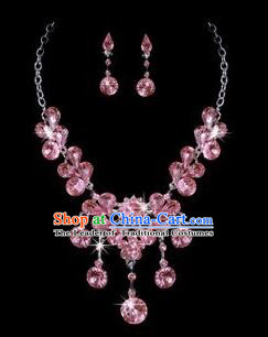 Ancient Style Accessories Necklace Chain Ear Wearing Set Wedding Decorating Jing Hong WU Empresses in the Palace Pink