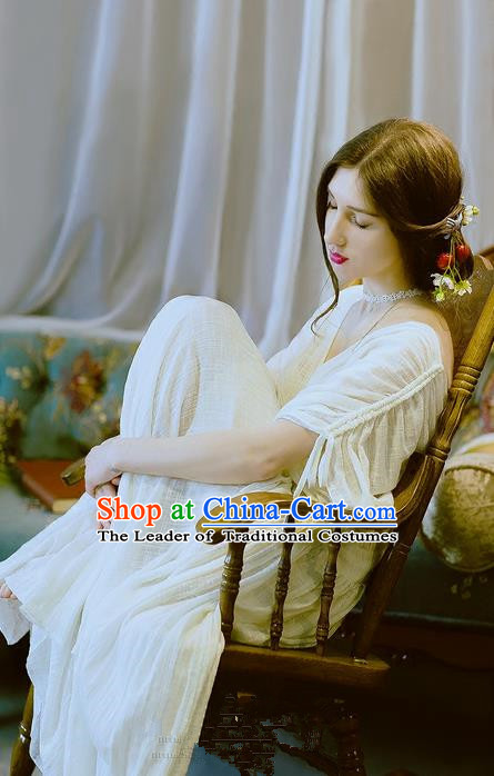 Traditional Classic Women Clothing, Traditional Classic Elegant Yarn Brought Palace Restoring One-Piece Dress Even Garment Skirt Long Skirts