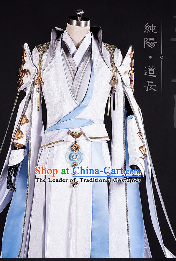 Chinense Ancient Taoist Costumes Chinese COSPLAY for Men Garment Show Stage Dress Costumes Dress Cos Asian Traditional Clothing