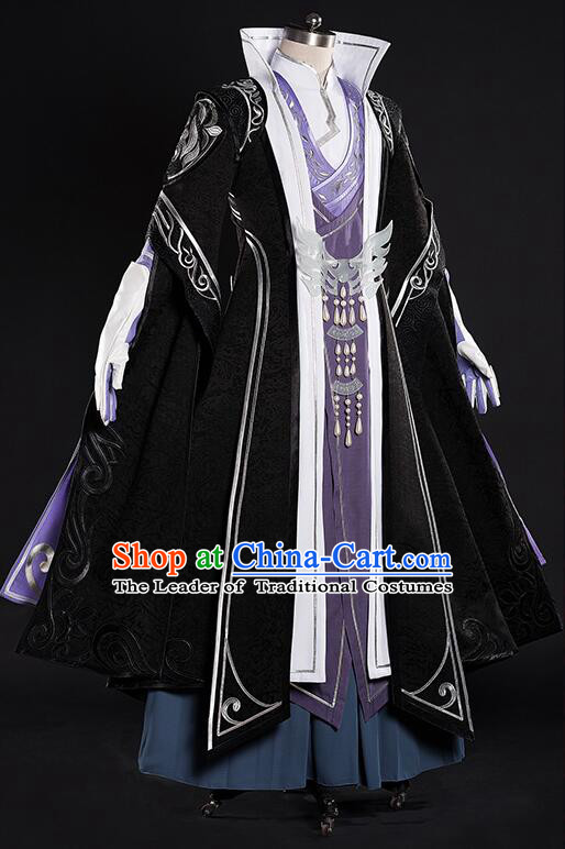 Chinense Ancient Clothes for Men Dress Chinese COSPLAY Costumes Adults Garment Show Stage Dress Costumes Dress Cos