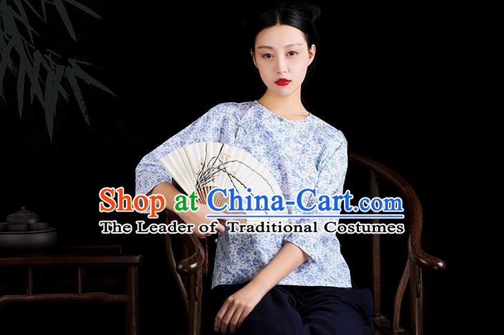 Traditional Classic Women Clothing, Traditional Classic Chinese Republic Of China Cotton Chinese Plate Buttons Jacket Chinese Blouse for Women
