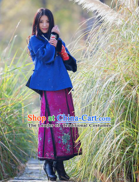Traditional Classic Women Clothing, Traditional Classic Chinese Real Silk Brocade Thin Cotton-Padded Clothes Chinese Cotton-Padded Jacket Republic Of China Female Costomes