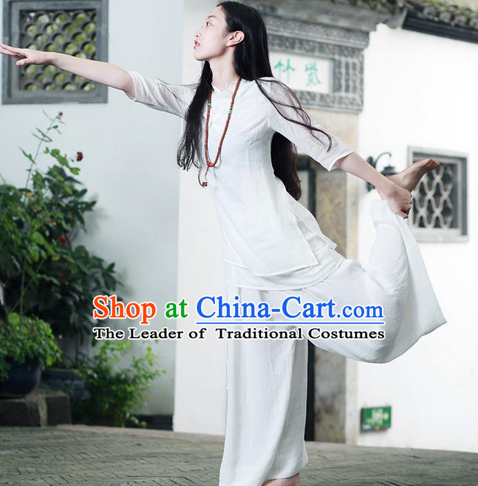 Traditional Chinese Female Costumes Complete Set,Chinese Acient Clothes, Chinese Cheongsam, Tang Suits Blouse and Pants for Women
