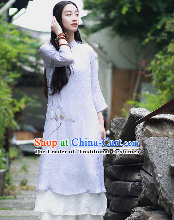 Traditional Chinese Female Costumes, Chinese Acient Clothes, Chinese Cheongsam, Tang Suits Blouse for Women
