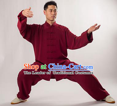 Traditional Chinese Top Silk Kung Fu Costume Martial Arts Kung Fu Training Uniform Tang Suit Gongfu Shaolin Wushu Clothing Tai Chi Taiji Teacher Mulberry Silk Suits Uniforms for Men