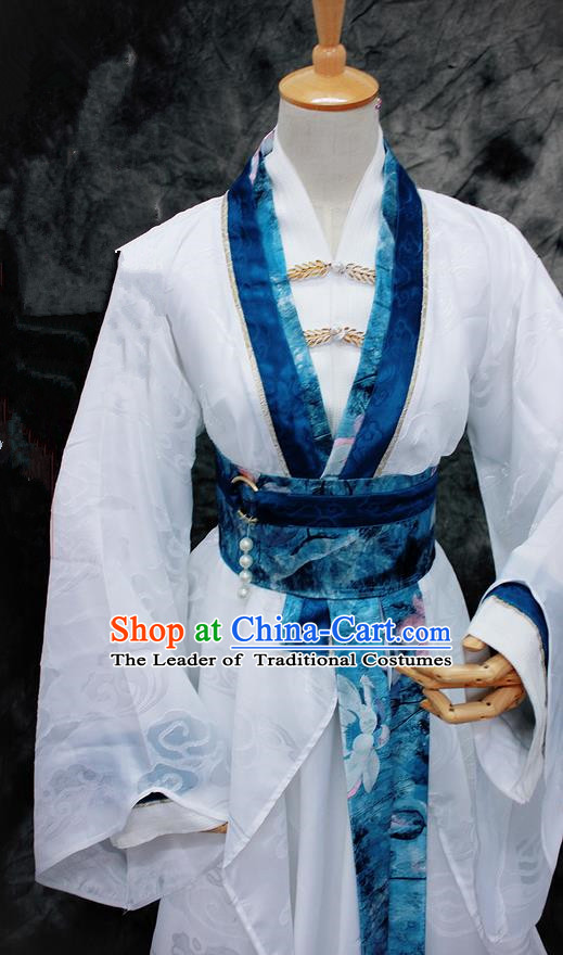 Chinese Ancient Cosplay Costumes Chinese Traditional Embroidered Clothes Ancient Chinese Cosplay Swordsman Knight Costume Complete