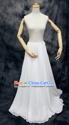 Chinese Ancient Cosplay Costumes, Chinese Traditional Clothes Double-Deck Base Skirts, Ancient Chinese Cosplay Chiffon Skirt for Women