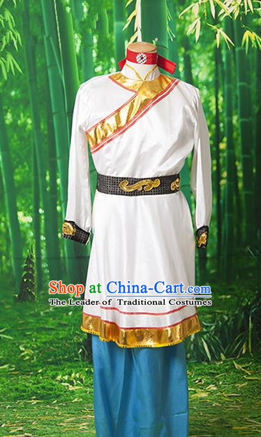 Traditional Chinese Miao Nationality Dancing Costume Folk Dance Ethnic Dance Costume for Men