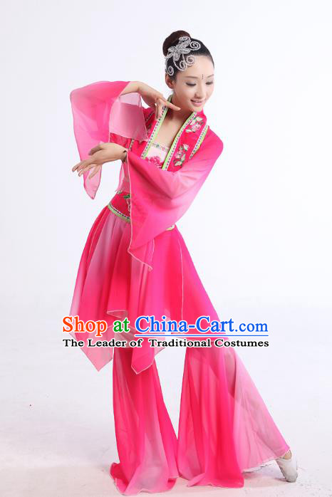 Traditional Chinese Yangge Fan Dancing Costume Modern Dance Dress Clothing and Headwear