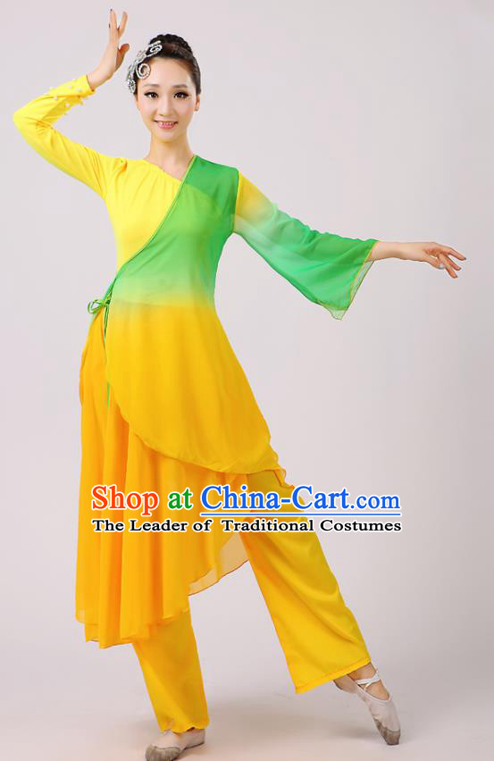 Traditional Chinese Yangge Dance Costume, Folk Fan Dance Green Uniform Classical Dance Clothing for Women