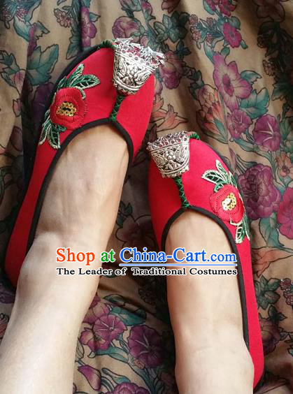 Chinese Shoes Wedding Shoes Kung Fu Wushu Shoes, Traditional China Shoes Opera Shoes Hanfu Shoes Embroidered Shoes