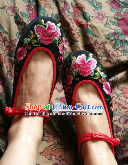 84c540aaae7d44 Asian Chinese Traditional Wedding Shoes Red Embroidered Shoes