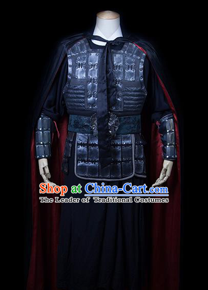 Traditional Ancient Chinese General Costume, Asian Chinese Ming Dynasty Warrior Clothing for Kids