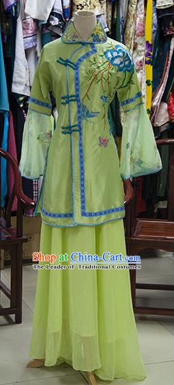 Traditional Ancient Chinese Republic of China Nobility Lady Embroidered Costume, Asian Chinese Qing Dynasty Embroidered Green Xiuhe Suit Clothing for Women