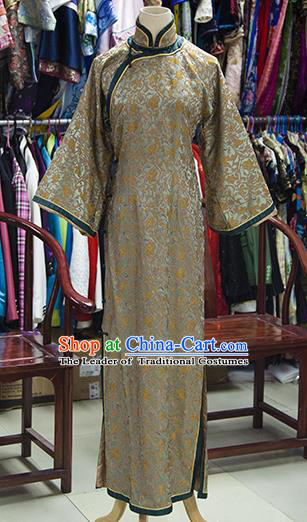Traditional Ancient Chinese Imperial Consort Costume, Chinese Qing Dynasty Manchu Palace Lady Embroidered Dress Clothing for Women