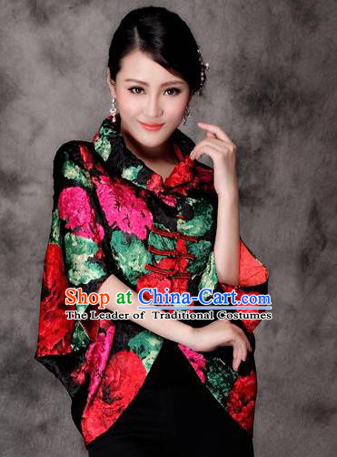 Traditional Ancient Chinese Young Lady Red Silk Cheongsam Jacket, Republic of China Qipao Tang Suit Plated Buttons Coat for Women