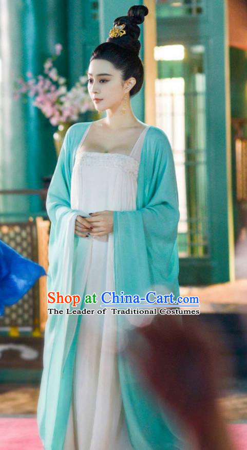 Asian China Tang Dynasty Palace Lady Princess Costume, Traditional Chinese Ancient Consort Yang Hanfu Embroidered Clothing for Women