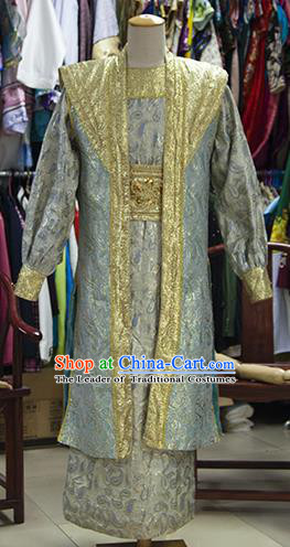 Traditional Ancient Chinese Emperor Costume, Asian Chinese Tang Dynasty Majesty Embroidered Robe Clothing for Men