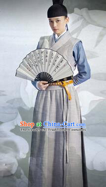 Traditional Ancient Chinese Swordsman Costume, Asian Chinese Ming Dynasty Nobility Childe Clothing for Men