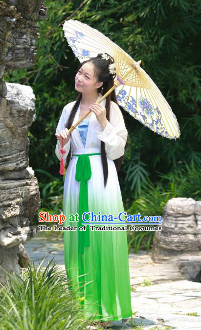 Traditional Ancient Chinese Imperial Princess Costume, Asian China Tang Dynasty Imperial Empress Green Dress Clothing for Women