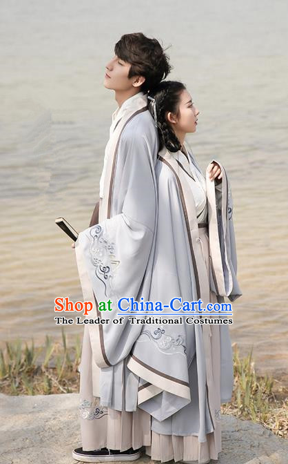Traditional Ancient Chinese Hanfu Costume Embroidered Crane Cloak, Asian China Ming Dynasty Cardigan Clothing for Women for Men