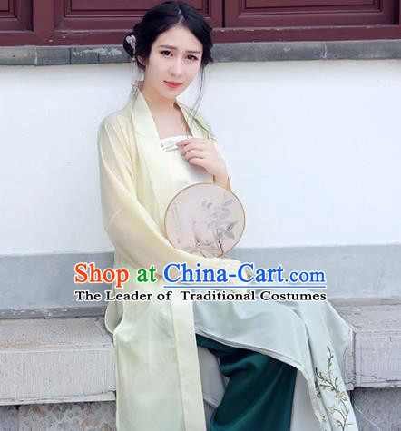 Traditional Ancient Chinese Palace Lady Hanfu Costume, Asian China Song Dynasty Imperial Princess Clothing for Women