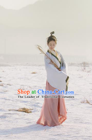 Traditional Chinese Ancient Costume Swordsman Dress, Asian China JIn Dynasty Palace Lady Hanfu Clothing for Women