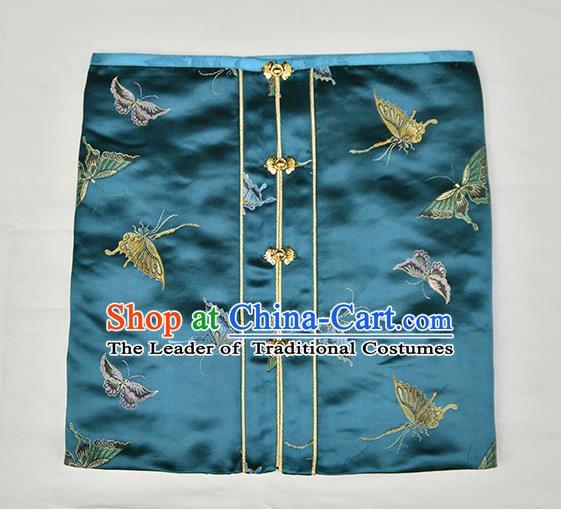 Traditional Chinese Ancient Costume Princess Embroidered Silk Wrapped Chest, Asian China Ming Dynasty Hanfu Green Vest Clothing for Women