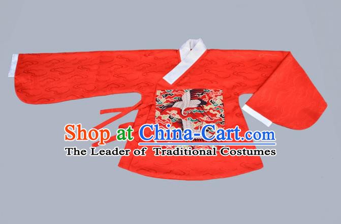 Traditional Chinese Ancient Costume Princess Red Blouse, Asian China Ming Dynasty Palace Lady Hanfu Clothing for Women