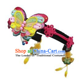 Traditional Korean Hair Accessories Butterfly Hair Clasp, Asian Korean Fashion Headwear Headband for Kids