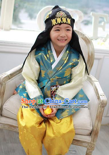 Traditional Korean Handmade Formal Occasions Costume Embroidered Baby Brithday Hanbok Clothing for Boys