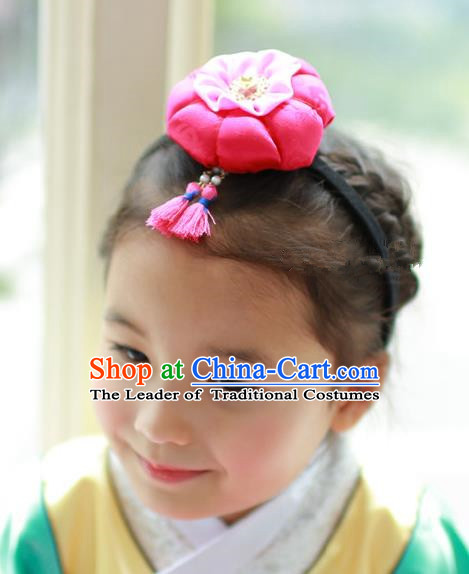 Traditional Korean Hair Accessories Tassel Hair Clasp, Asian Korean Fashion Headwear Headband for Kids