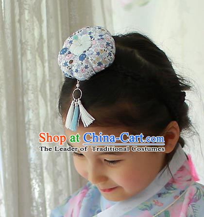 Traditional Korean National Hair Accessories Hair Clasp, Asian Korean Hanbok Fashion Headwear Headband for Kids