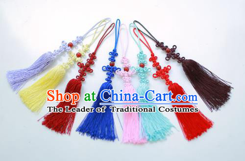 Traditional Korean Accessories Bride Chinese Knots Waist Pendant Palace Taeniasis, Asian Korean Wedding Hanbok Tassel Waist Decorations for Women