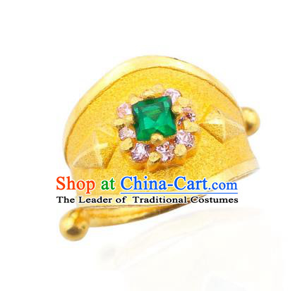Asian Korean Hanbok Accessories Wedding Golden Ring for Baby