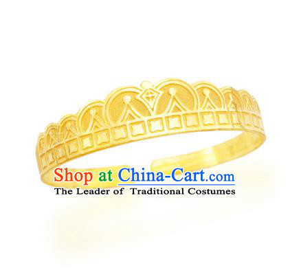 Asian Korean Hanbok Accessories Golden Longevity Bracelet for Baby