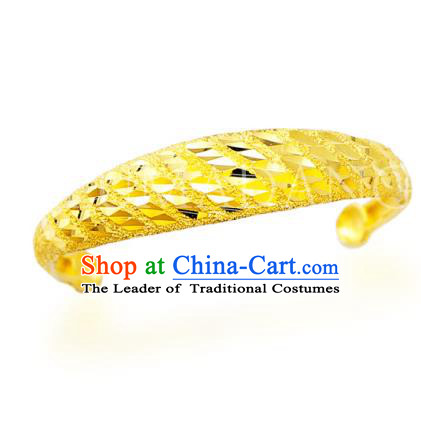 Asian Korean Hanbok Accessories Gold Longevity Bracelet for Baby