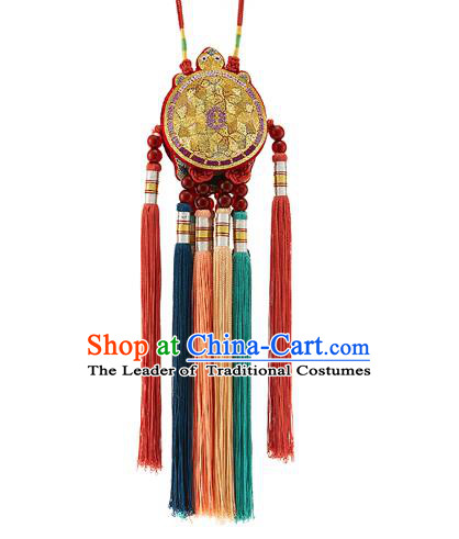 Korean National Belts Accessories Bride Wedding Hanbok Turtle Waist Pendant, Asian Korean Chinese Knot Tassel Waist Decorations for Women