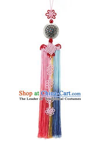 Korean National Belts Accessories Bride Wedding Hanbok Tassel Waist Pendant, Asian Korean Chinese Knot Waist Decorations for Women