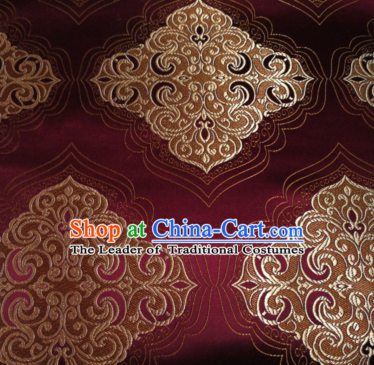 Royal Coffee Color Chinese Royal Palace Style Traditional Pattern Design Brocade Fabric Silk Fabric Chinese Fabric Asian Material