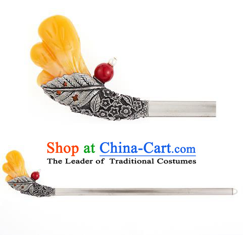 Traditional Korean National Hair Accessories Bride Wedding Palace Hairpins, Asian Korean Hanbok Fashion Headwear Hair Stick for Women
