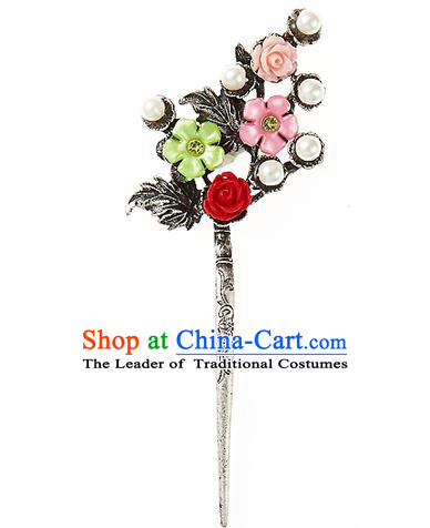 Korean National Wedding Hair Accessories Bride Hair Clip, Korean Hanbok Fashion Palace Hairpins for Women