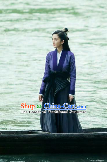 Traditional Chinese Ancinet Chivalrous Swordswomen Costume for Women