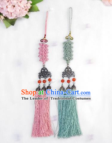 Asian Korean Hanbok Tassel Chinese Knot Waist Decorations, Korean National Belts Accessories Wedding Bride Waist Pendant for Women