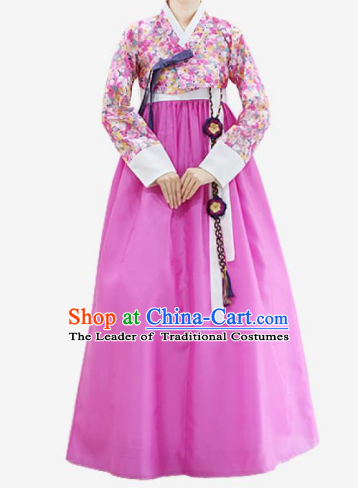 Top Grade Korean National Handmade Wedding Clothing Palace Bride Hanbok Costume Embroidered Pink Blouse and Dress for Women