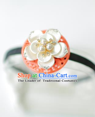 Korean National Bride Hair Accessories Flowers Hair Clasp, Asian Korean Hanbok Palace Headband Headwear for Kids