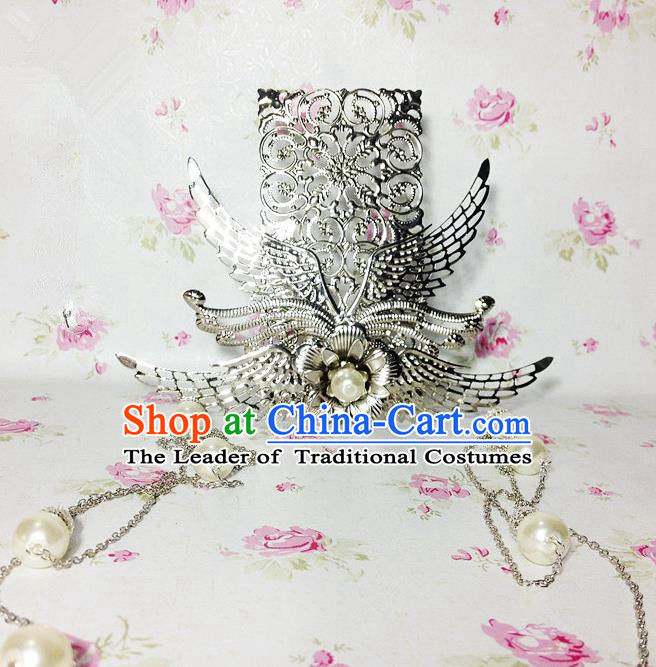 Traditional Handmade Chinese Ancient Classical Hair Accessories Royal Highness Pearls Tassel Tuinga Hairdo Crown for Men