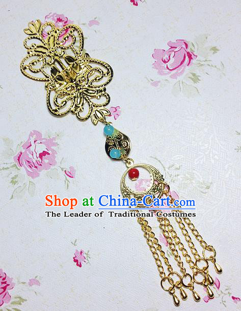 Traditional Chinese Ancient Classical Hair Accessories Hanfu Xiuhe Suit Eyebrows Pendant Bride Hairpins for Women