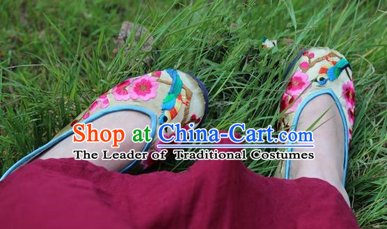 e814401af4ca25 Asian Chinese Traditional Shoes Wedding Golden Embroidered Shoes ...